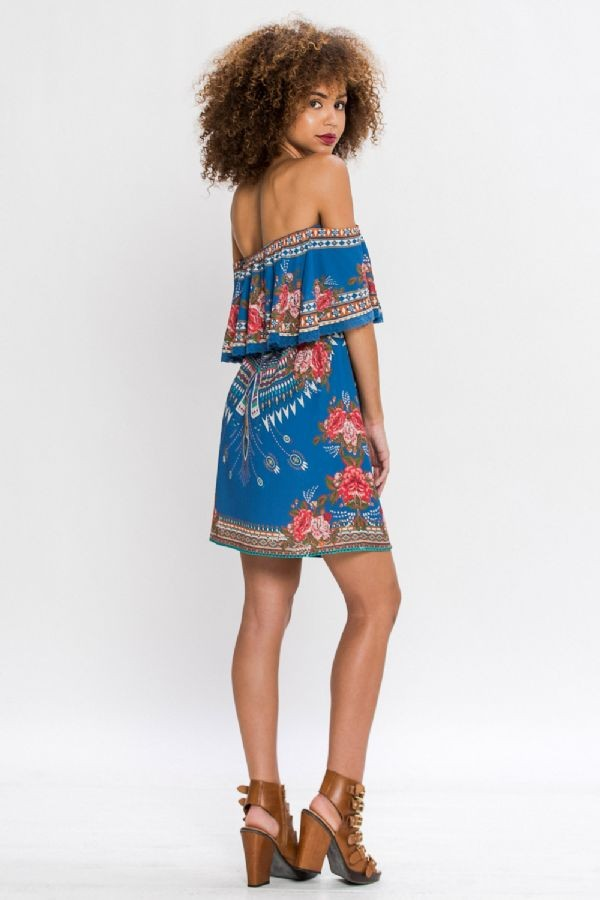 Pierce Print Dress - Hippie Vibe Tribe
