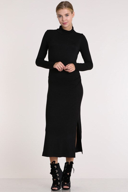 Black Midi Maxi Dress - Hippie Vibe Tribe