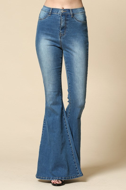 Stretchy Hippie Bell Bottom Jeans - Hippie Vibe Tribe