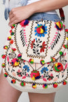 Bohemian Multi-Colored PomPom Flower bag - Hippie Vibe Tribe