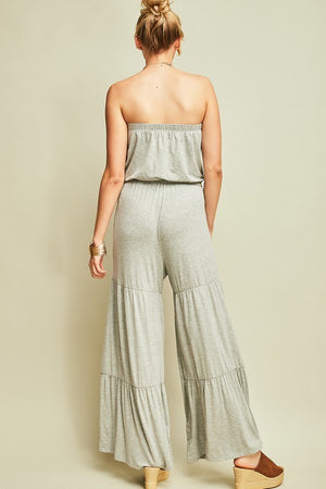 Tiered Strapless Jumpsuit - Hippie Vibe Tribe