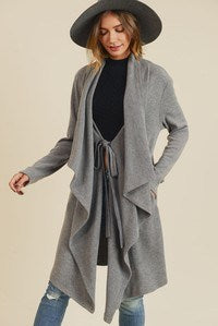Grey Blanket Coat - Hippie Vibe Tribe