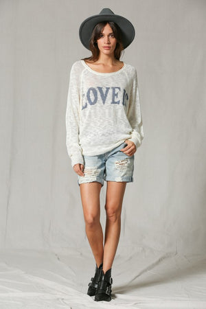 Love Is.. Soft & Cozy Light Knitted Sweater Top - Hippie Vibe Tribe