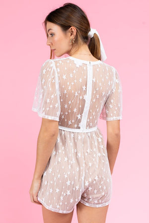 Star Lace Romper - Hippie Vibe Tribe