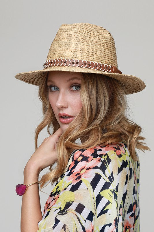 Natural Panama Hat - Hippie Vibe Tribe