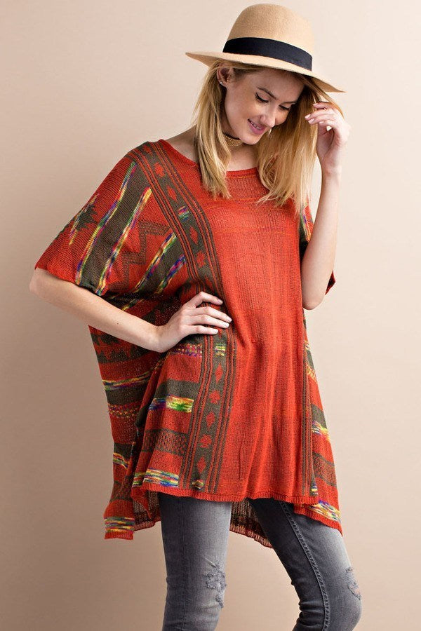 Tribal Poncho Shirt - Hippie Vibe Tribe