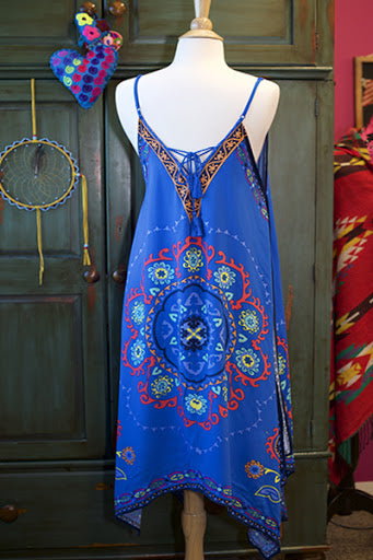 Bohemian Inspired Scarf Silky Dress - Hippie Vibe Tribe