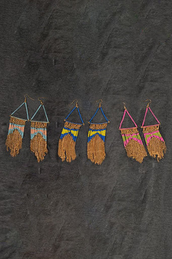 Multi Colored Beaded Chic Earrings - Hippie Vibe Tribe