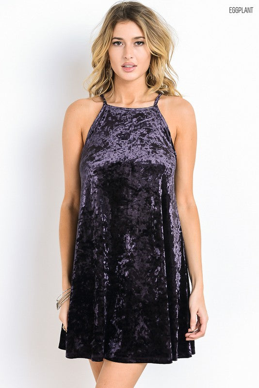 Crushed Velvet Dress - Hippie Vibe Tribe
