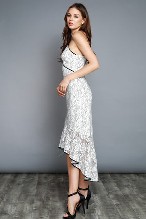 Rose Lace Mermaid Dress - Hippie Vibe Tribe