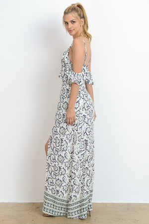 Off Shoulder Ruffle Maxi/Romper - Hippie Vibe Tribe