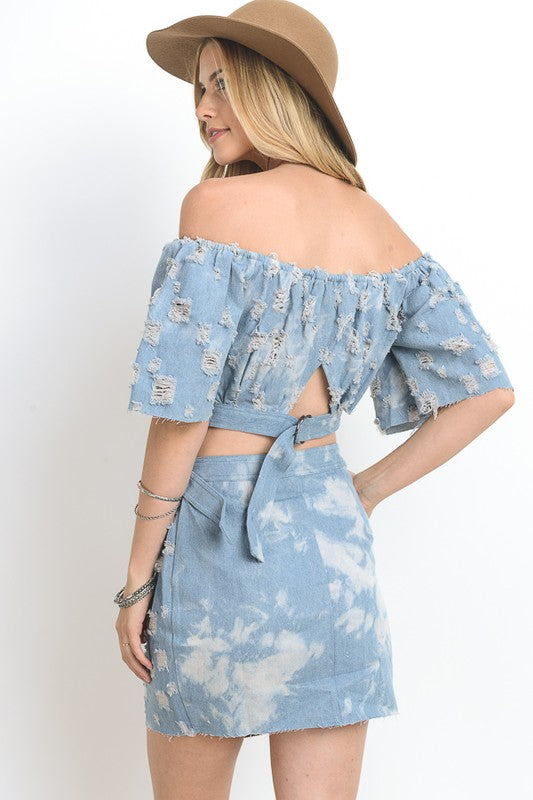 Distressed Denim Set - Hippie Vibe Tribe