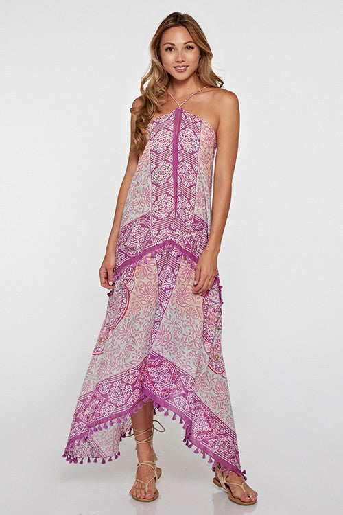 Moroccan Orchid Scarf Dress - Hippie Vibe Tribe
