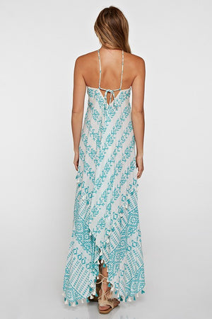 Moroccan Aqua Scarf Dress - Hippie Vibe Tribe
