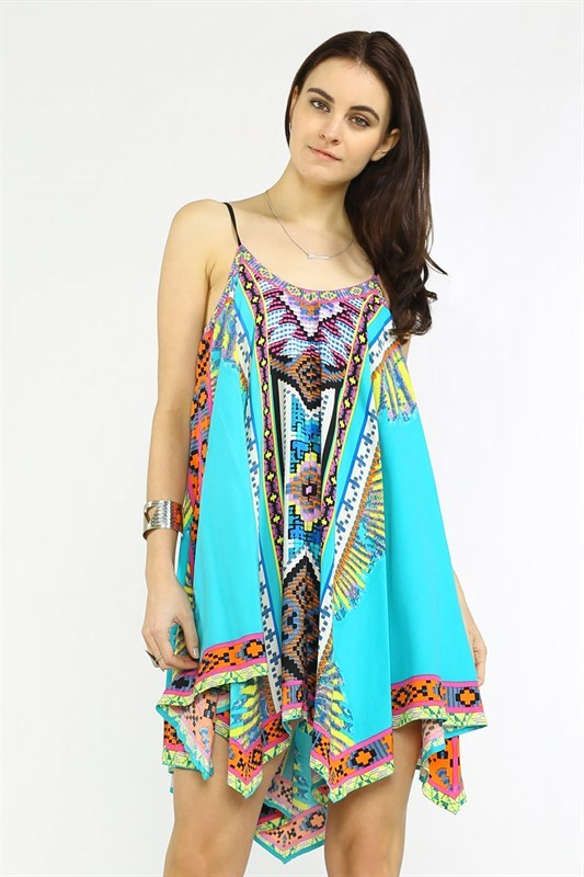 Pierce Print Scarf Dress - Hippie Vibe Tribe