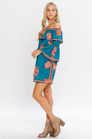 Off Shoulder Dress - Hippie Vibe Tribe
