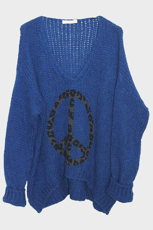 """Peace"" cotton sweater. - Hippie Vibe Tribe"