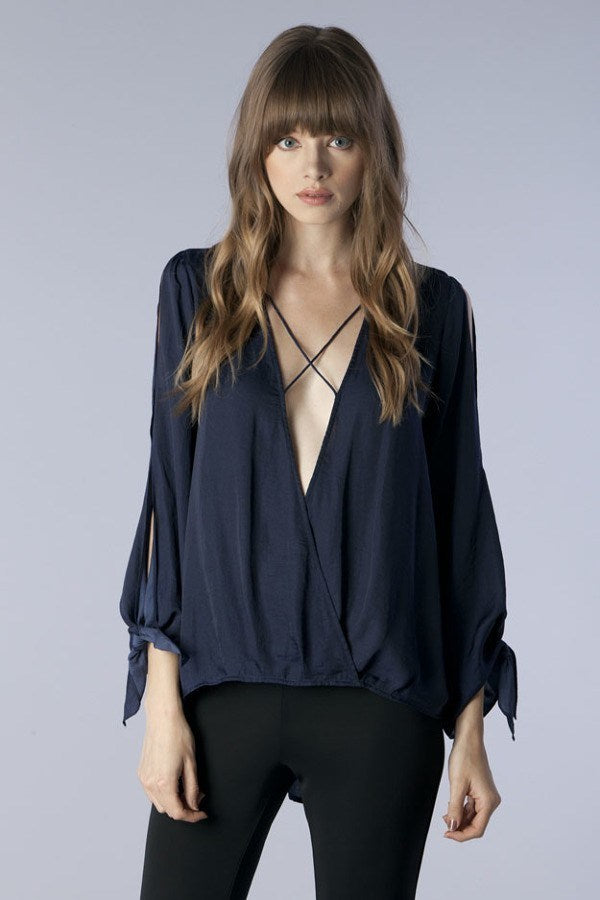 Flirty Cross Strap Blouse - Hippie Vibe Tribe
