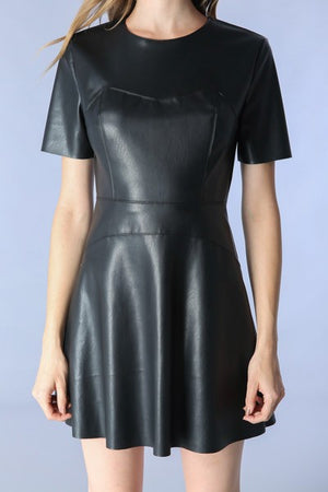 Leather Dress - Hippie Vibe Tribe