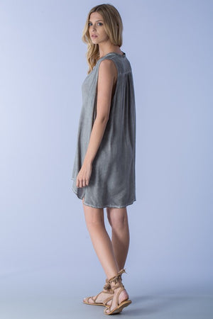 Distressed Low Neck Tunic - Hippie Vibe Tribe