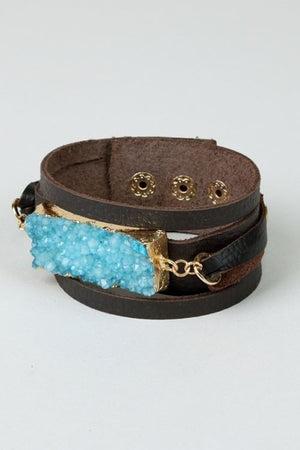 Leather Bracelet - Hippie Vibe Tribe