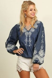 V-Neck Peasant Long Sleeve - Hippie Vibe Tribe