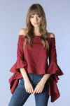 Off Shoulder Bell Sleeved Blouse - Hippie Vibe Tribe