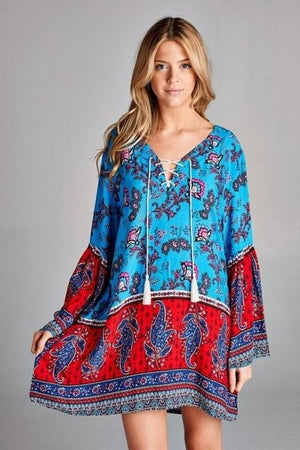 Boho Paisley Tunic/Dress - Hippie Vibe Tribe