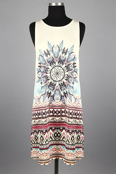 Drop Waist Tank Dress - Hippie Vibe Tribe