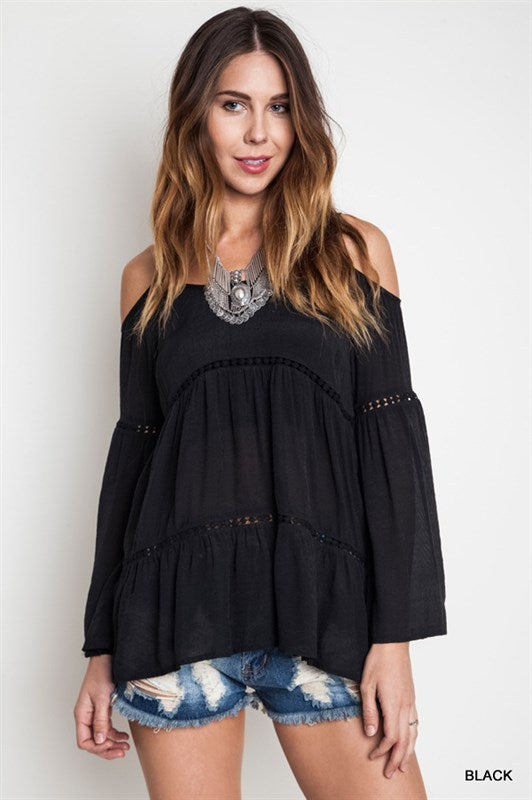 Shoulder Swing  Blouse - Hippie Vibe Tribe