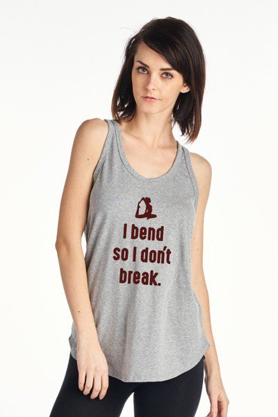 """I Bend So I Don't Break"" Yoga Tank - Hippie Vibe Tribe"