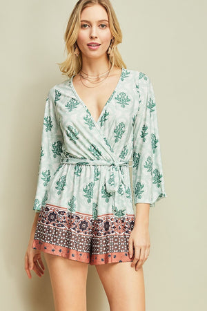 Sexy Sage Long Sleeve & Short Romper - Hippie Vibe Tribe