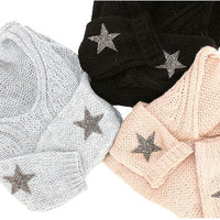 Rose Star Cashmere Knit Sweater - Hippie Vibe Tribe