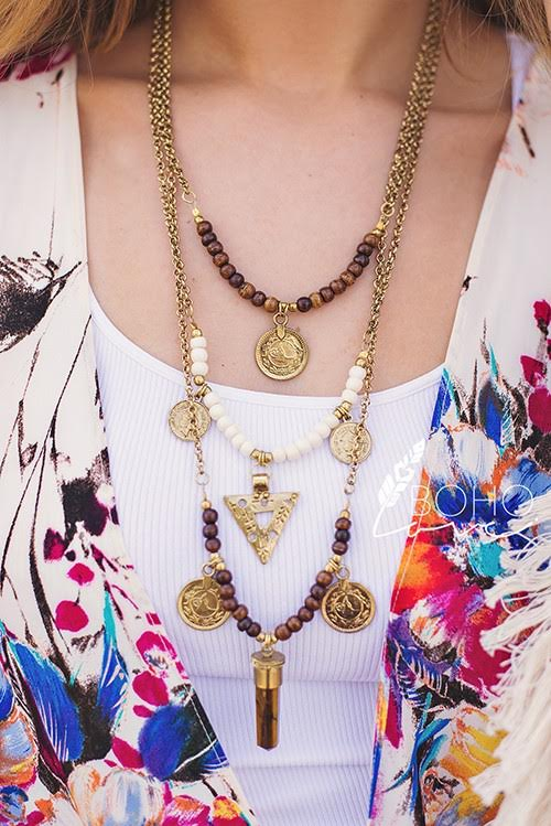 Antique Gold Tribal Necklace - Hippie Vibe Tribe