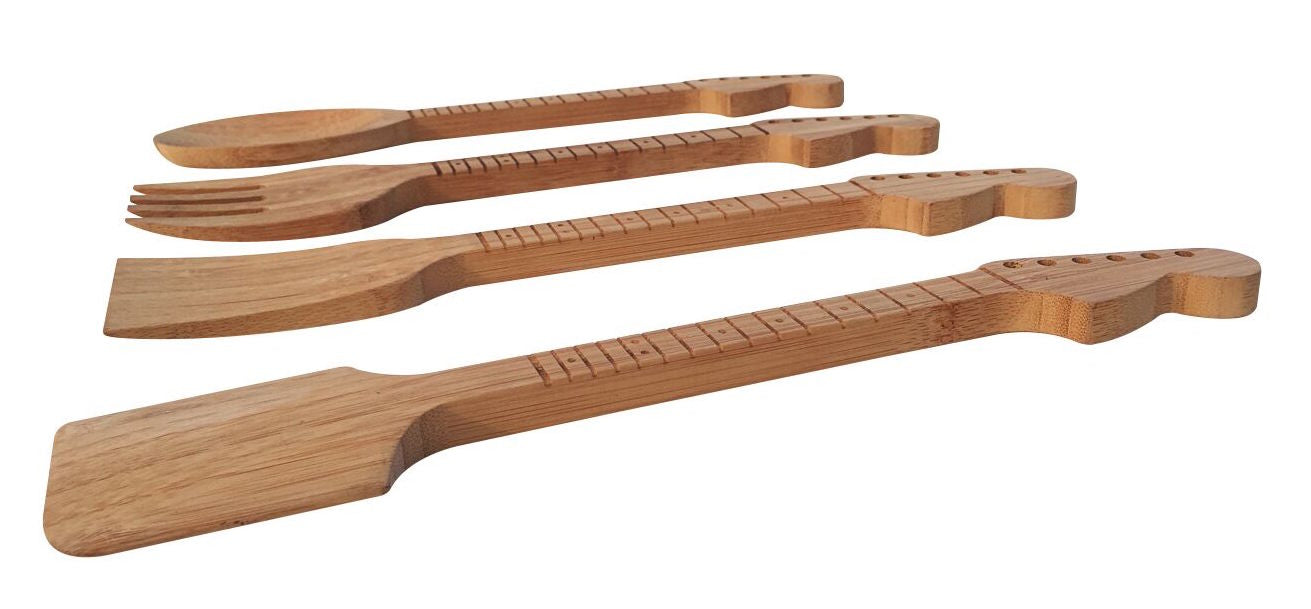 Guitar Neck Bamboo Kitchen Utensils