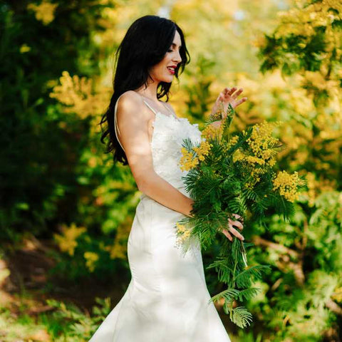 fit and flare wedding dress