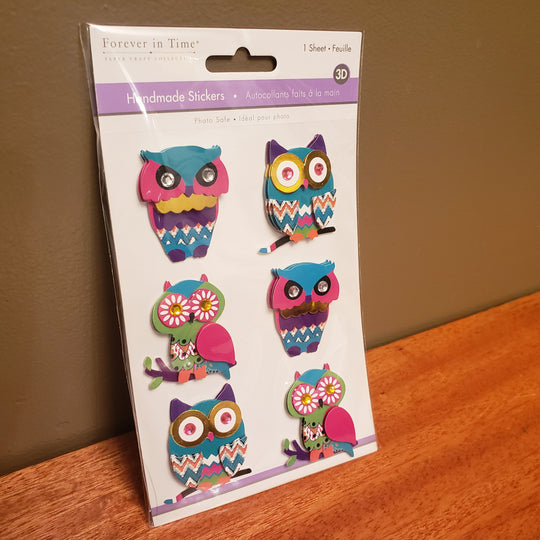 Brand New 3D Stickers OWLS