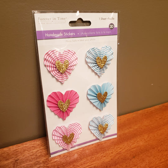 Brand New 3D Stickers HEARTS