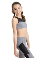 Capezio Dance Active Front Keyhole Bratop, Childs