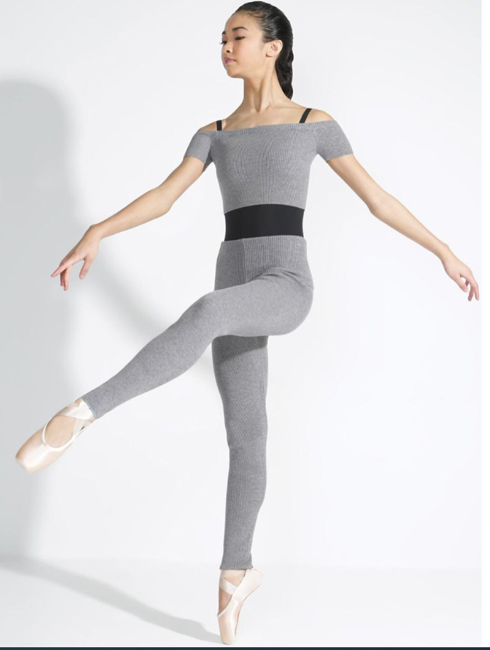 Capezio Ribbed Sweater Knit Legging, Adults