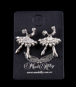 Mad Ally - Diamante Ballerina Earrings