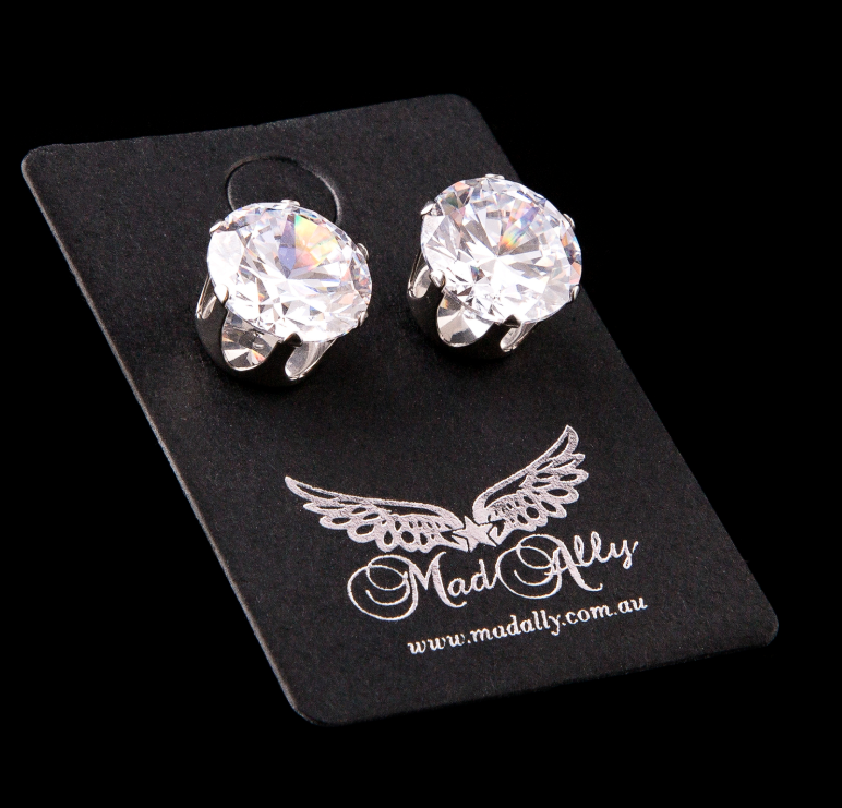 Mad Ally - Diamante Earrings 10mm