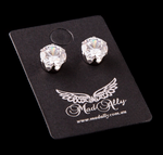 Mad Ally - Diamante Earrings 8mm