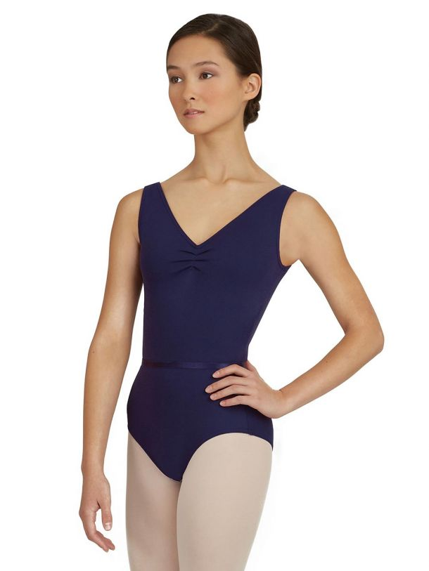 Capezio Tactel V Neck Leotard, Adults