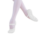 Energetiks Ballet Shoe Full Sole, White, Childs