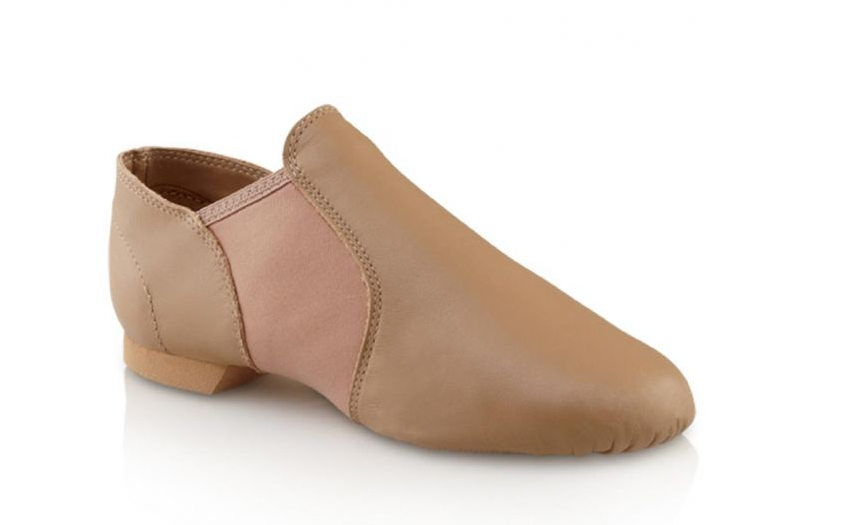 Capezio E-Series Jazz Slip On, Caramel, Adults