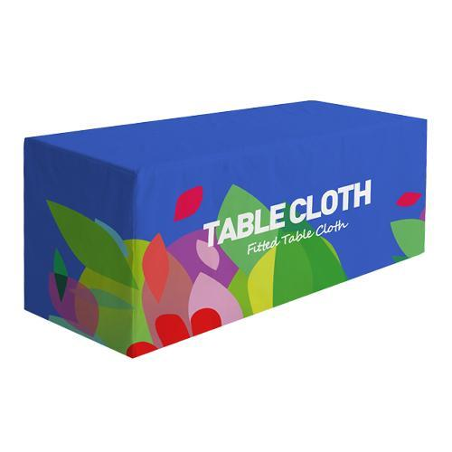Premium Fitted Table Cover (Full-Color Dye Sublimation, Full Bleed)