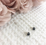 Swarovski Pearl Drop Earrings - Dark Grey