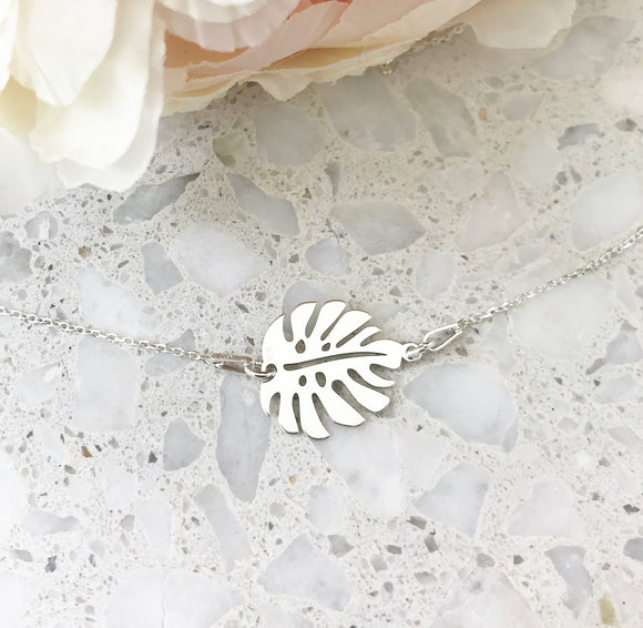 Monstera Leave Necklace