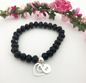 Foster Family Stretch Bracelet - Heart Charm & Disc